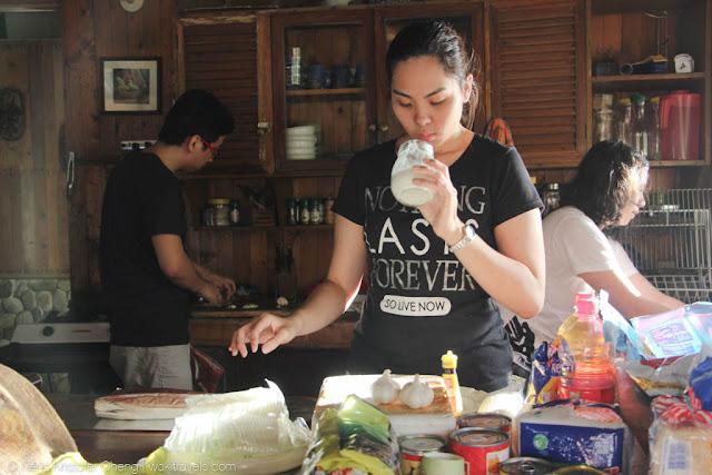 Preparing in the kitchen of Lumot Lake House