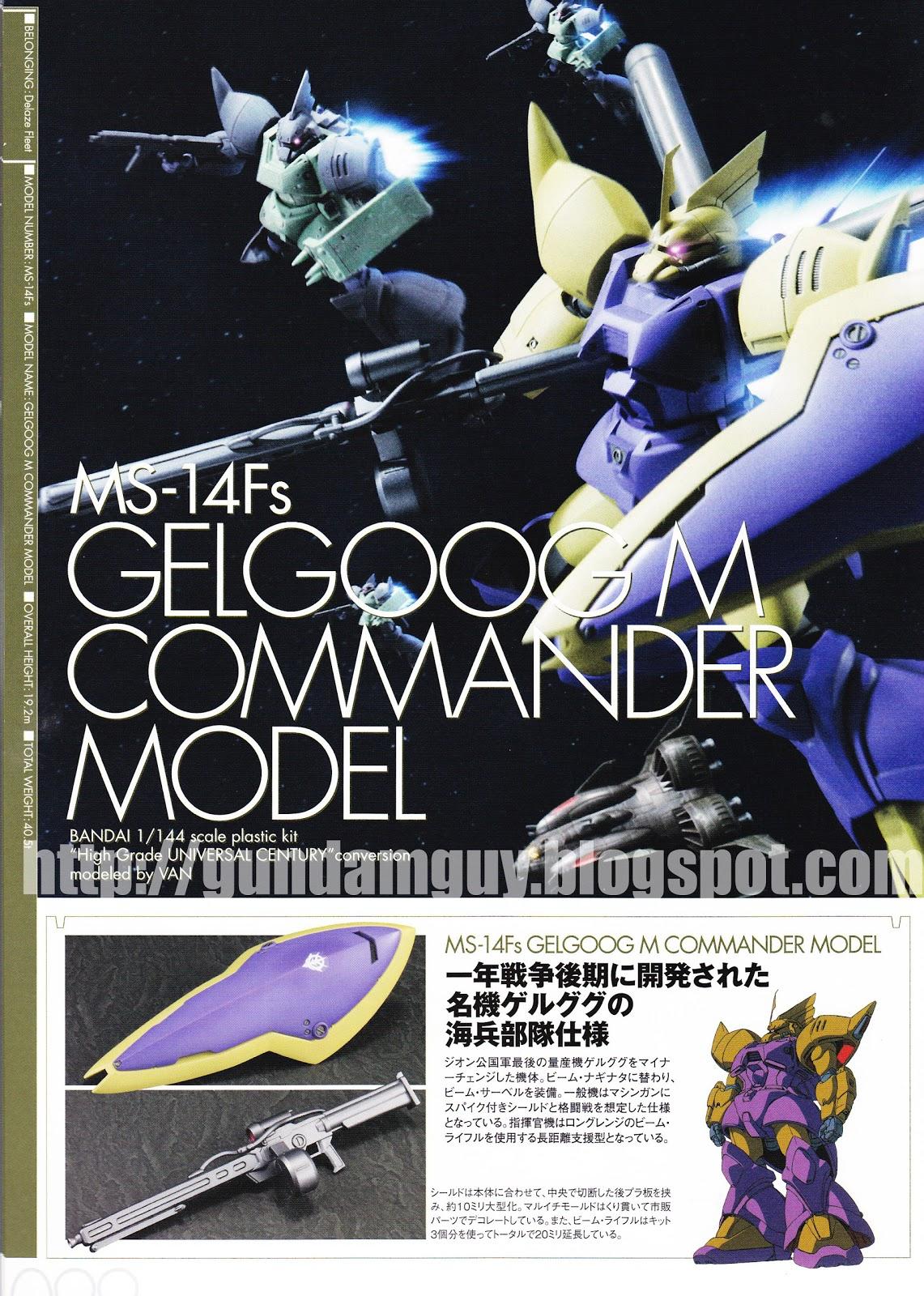 GUNDAM GUY: MG-14Fs Gelgoog M Commander Model - Mobile ...