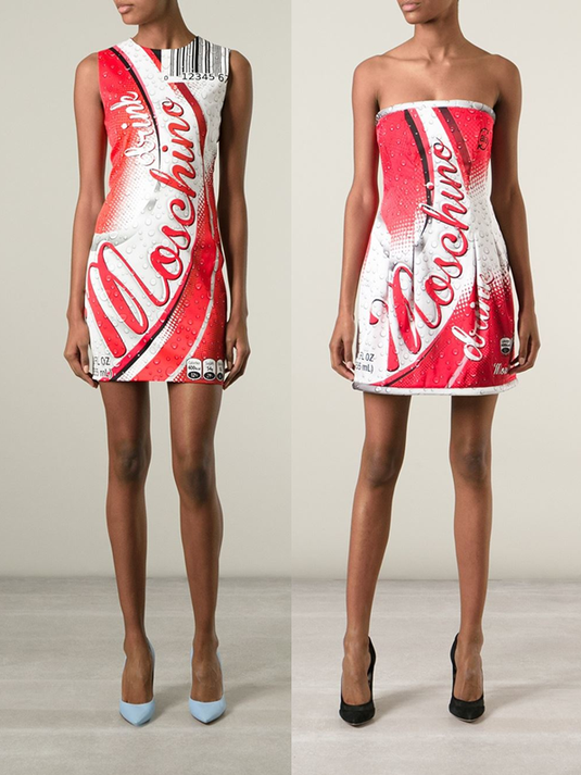 Moschino 2015 coca-cola dress