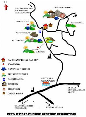 Peta Wisata Gunung Gentong Gedangsari