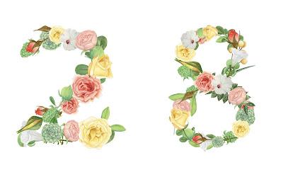 A floral number 28