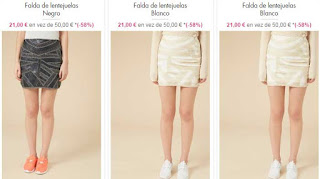 preciosas faldas de lentejuelas