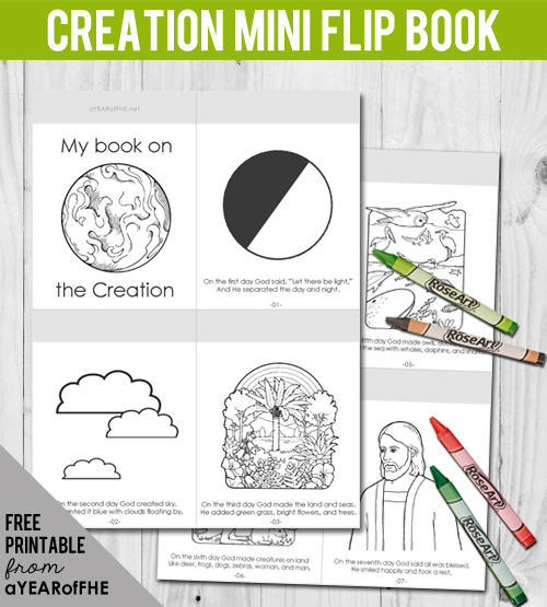 LDS FHE Creation Coloring Page Activity Free Printable