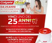 Logo Vinci 1 dei 25 anni di cure dentali con Colgate
