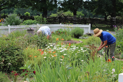 Landis Valley Museum gardeners July 2017