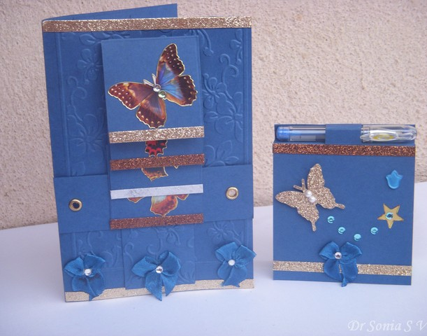 Waterfall Card and Post it note holder