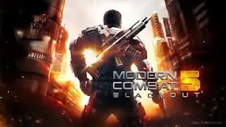 Modern Combat 5 Blackout v1.6.0g Apk+OBB (MEGA MOD)