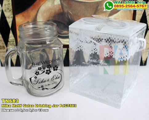 Mika Motif Gelas Drinking Jar FJC7503