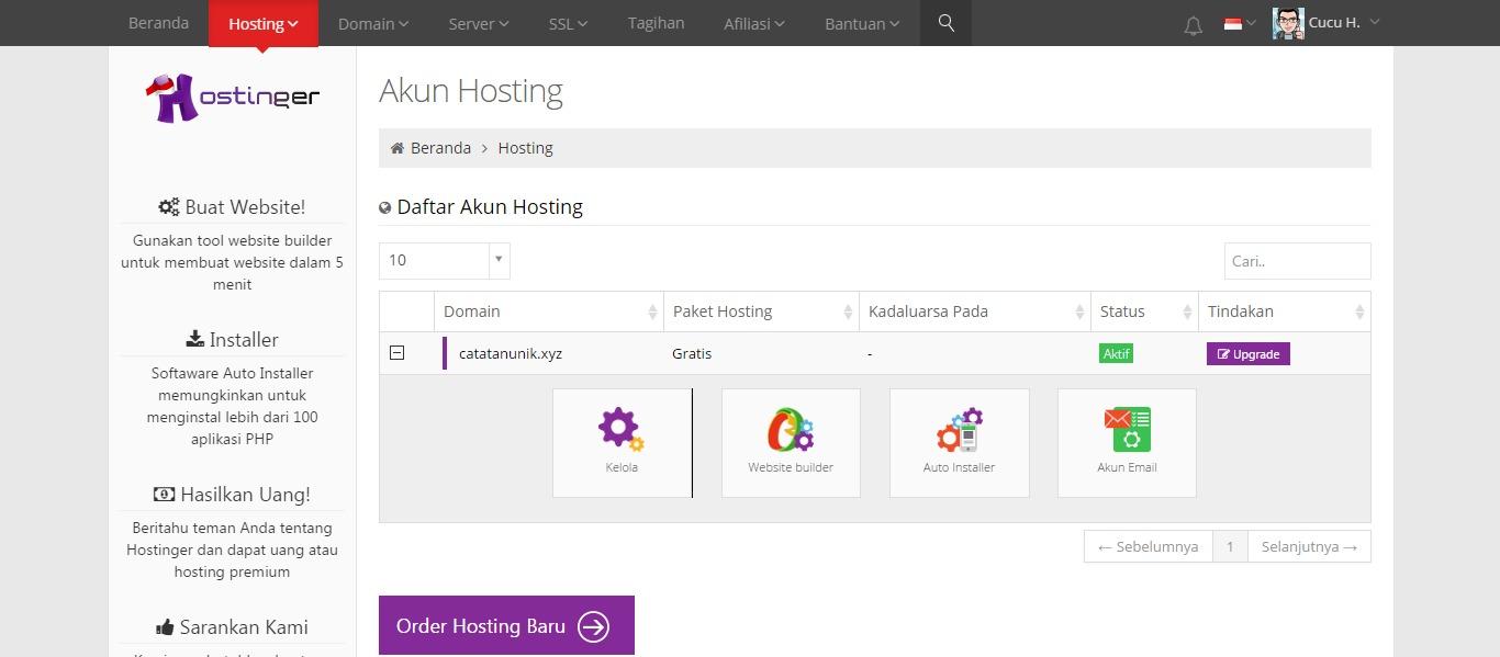 Cara Install Wordpress di IDHostinger - Cucu Hermawan