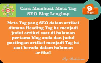 Cara Membuat Meta Tag SEO Blog Lengkap