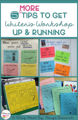 Tips for teachers to start writer's workshop.