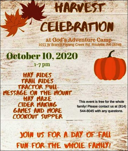 10-10 Harvest Celebration, God's Adventure, Roulette