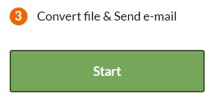 PDF Converter - Start conversion