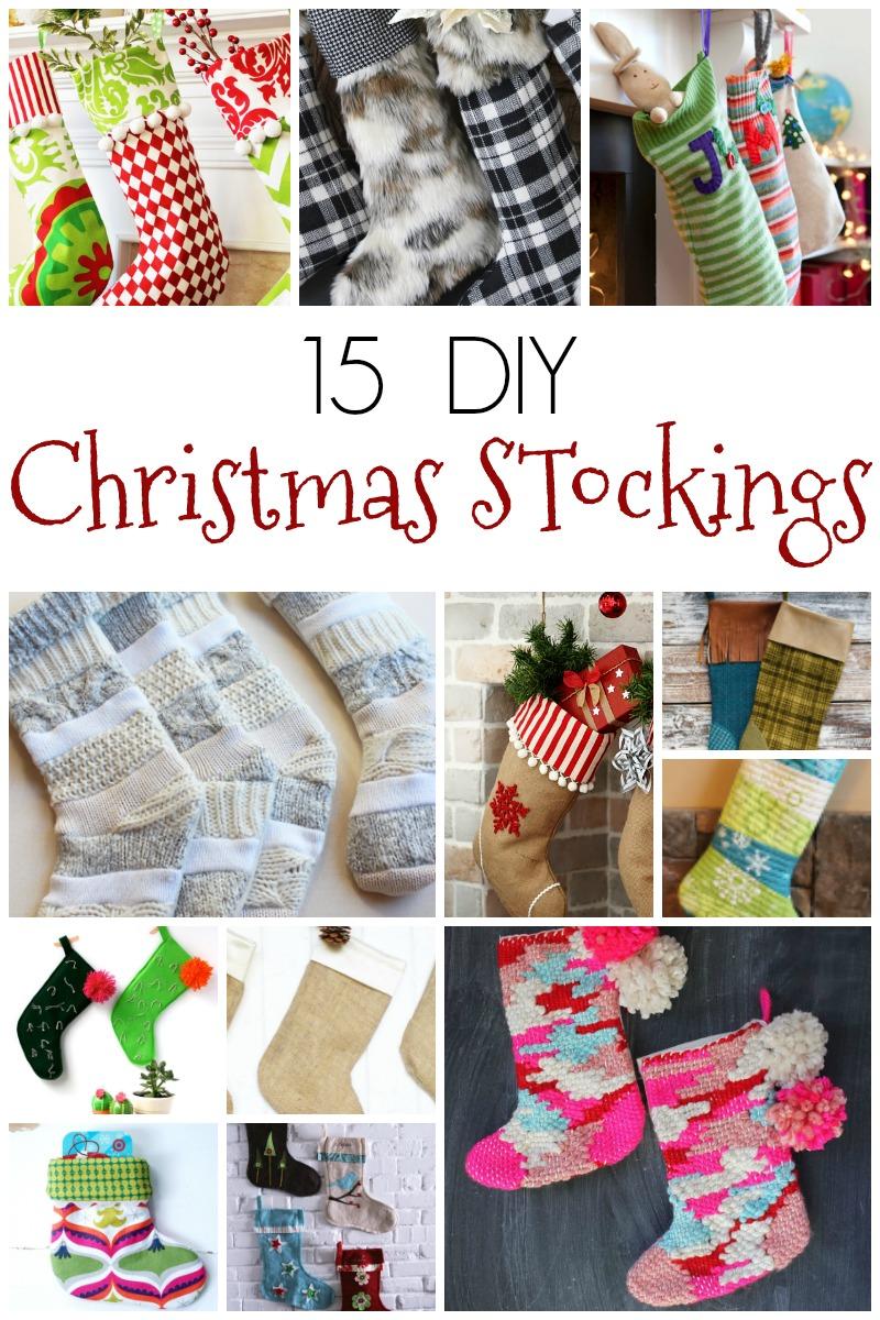 Christmas Stockings Diy.Christmas Tree Lane Diy Christmas Stockings