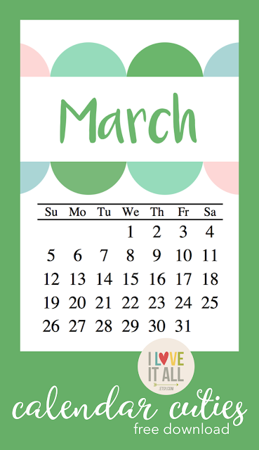 #march #calendar #free #printable #download #project life #3017