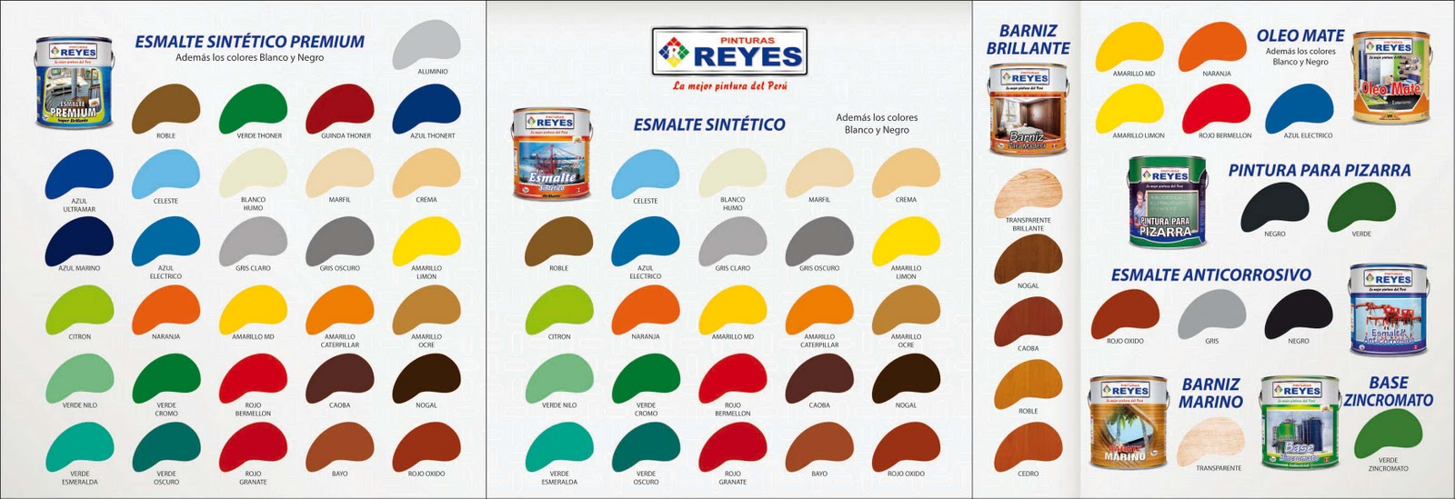 Catalogo de colores esmaltes pinturas reyes arte for Catalogo colores pintura pared