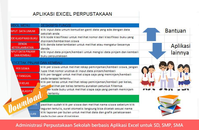 [.xls otomatis] Administrasi Perpustakaan Sekolah berbasis Aplikasi Excel untuk SD, SMP, SMA