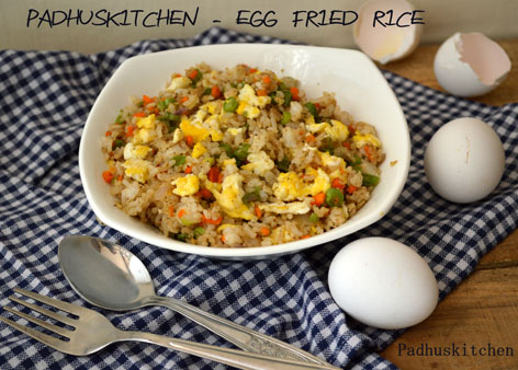 Egg fried rice easy egg fried rice recipe padhuskitchen egg fried rice easy egg fried rice forumfinder Images