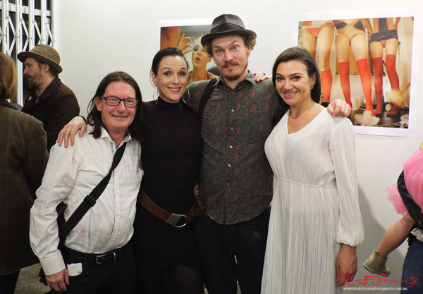 "Sydney photographers Nyk Sykes, Catherine Hourihan, Dan ""Ears"" O'toole and Jessica Matino come together for ""HER"" at M2 Gallery. Photo by Kent Johnson."
