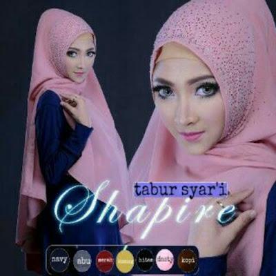 kerudung Hijab Khimar Syar'i Saphire