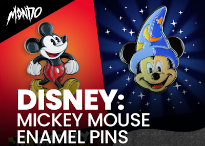 Disney x Mondo Mickey Mouse Enamel Pins by Tom Whalen & DKNG Studios