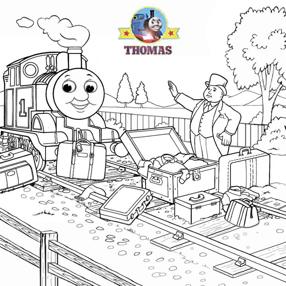 Thomas the train coloring pictures for kids to print out