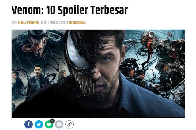 Spoiler Film Venom 2018
