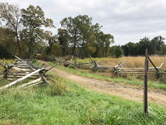 Trail at Gettsburg Battlefields