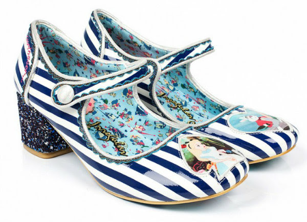 Irregular Choice Disney Alice In Wonderland tick tock stripe