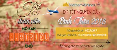 Vietnam Airlines chính thức mở bán vé máy bay Tết 2018