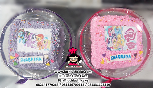 Mini Cake My Little Pony Edible Image