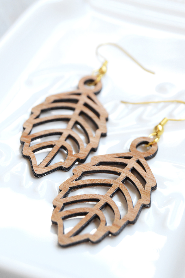 faux lasercut wood earrings final photo crafts unleashed