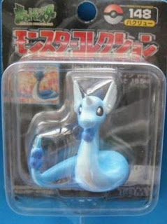 Dragonair Pokemon figure Tomy Monster Collection black package series