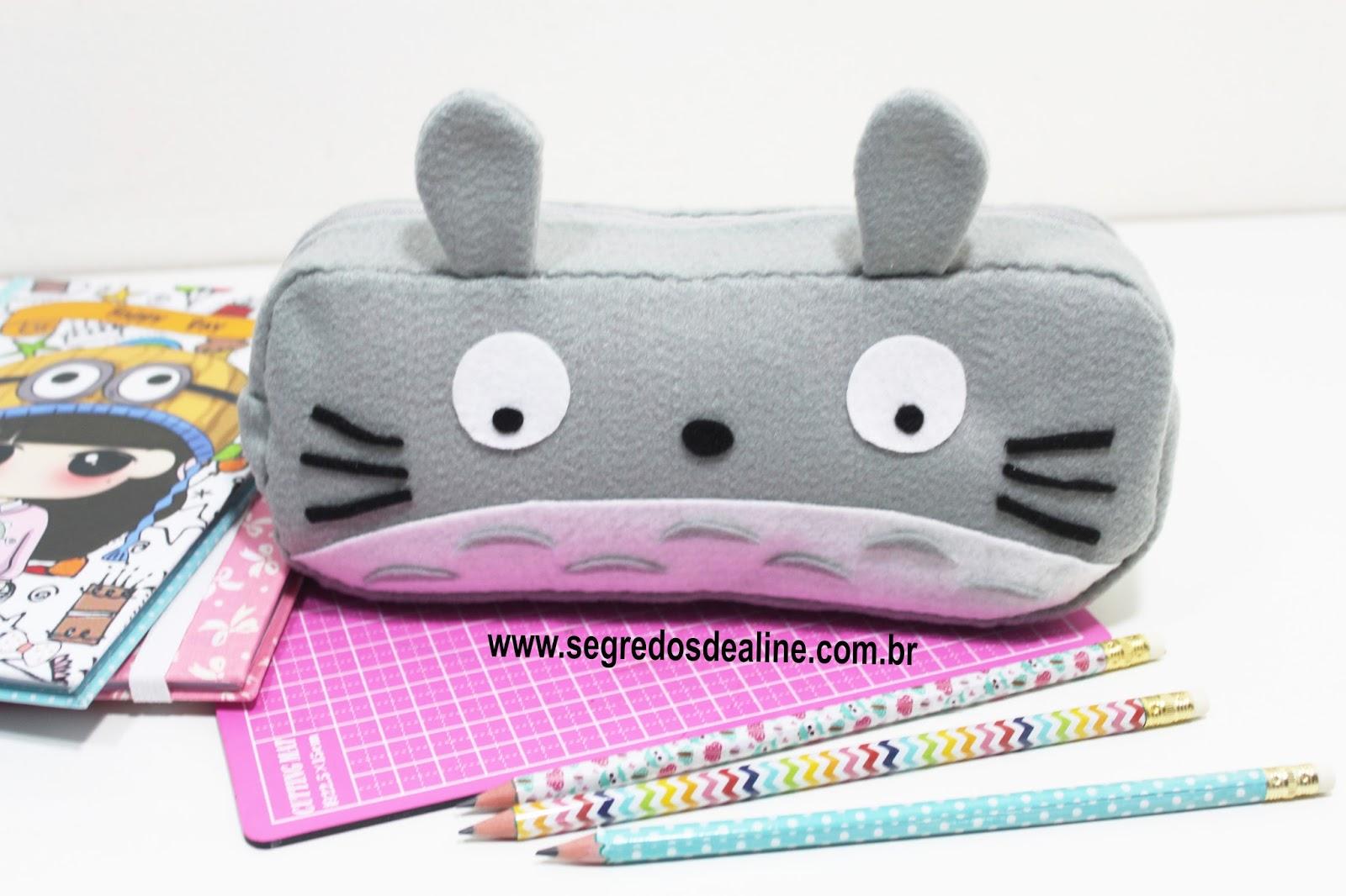 Segredos De Aline Estojo Totoro Em Feltro