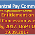 7th CPC Travel Entitlement on Leave Travel Concession w.e.f. 1st July, 2017: DoPT OM 19.09.2017