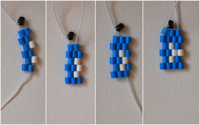 how to string a fish perler bead bracelet