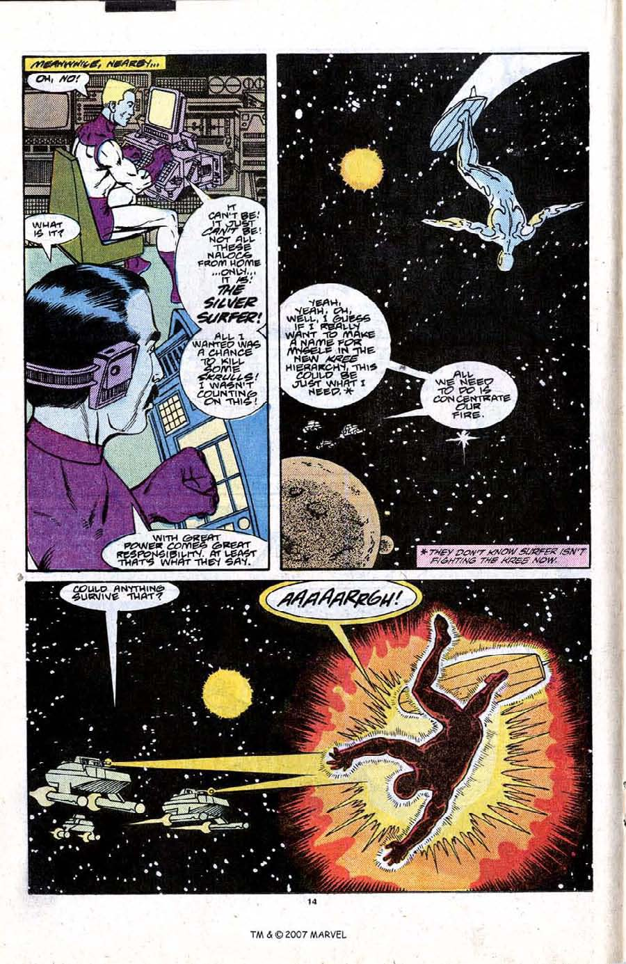 Read online Silver Surfer (1987) comic -  Issue #21 - 16