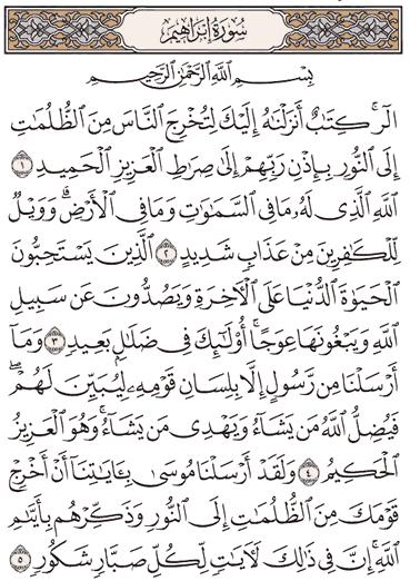 Tafsir Surat Ibrahim Ayat 1, 2, 3, 4, 5