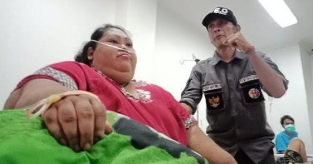 Alami Obesitas, Narti Sunarti Kini Sudah Dievakuasi ke RSUD Karawang