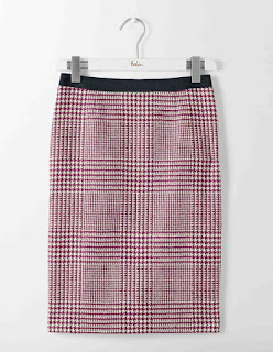 A pencil skirt is always a great buy for autumn and winter, particularly in the latest Prince of Wales check