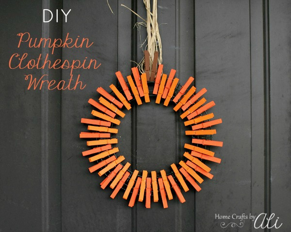 clothespin wreath display door