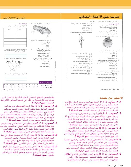 حلول وحدة تصنيف الكائنات العلوم الصف السادس الفصل الدراسي الثاني