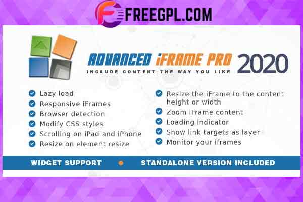 Advanced iFrame Pro Plugin Free Download