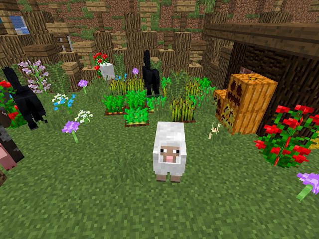 Afbeelding van een schaap in de Sint-Maartenwereld in Minecraft