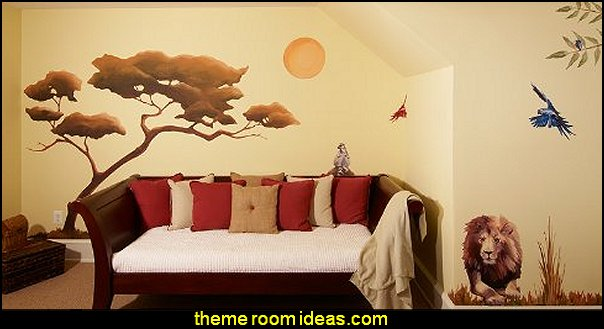 Wild Safari Reusable Wall Decorations