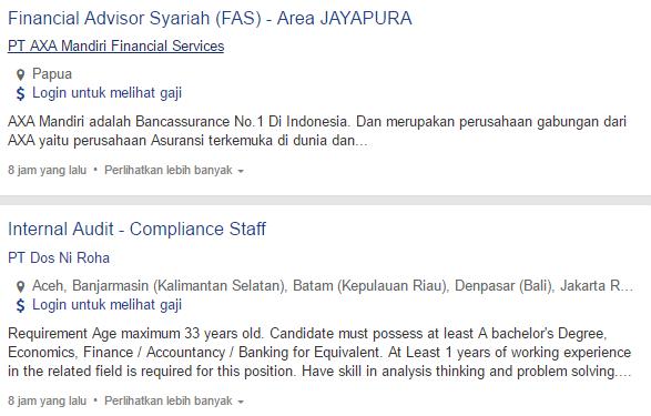 Lowongan Kerja Kota Jayapura Terbaru 2019.