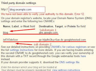Blogger Setting DNS, CNAME, Domain In Freenom