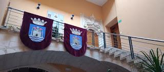 Escalera medieval del Ayuntamiento de Ontinyent.