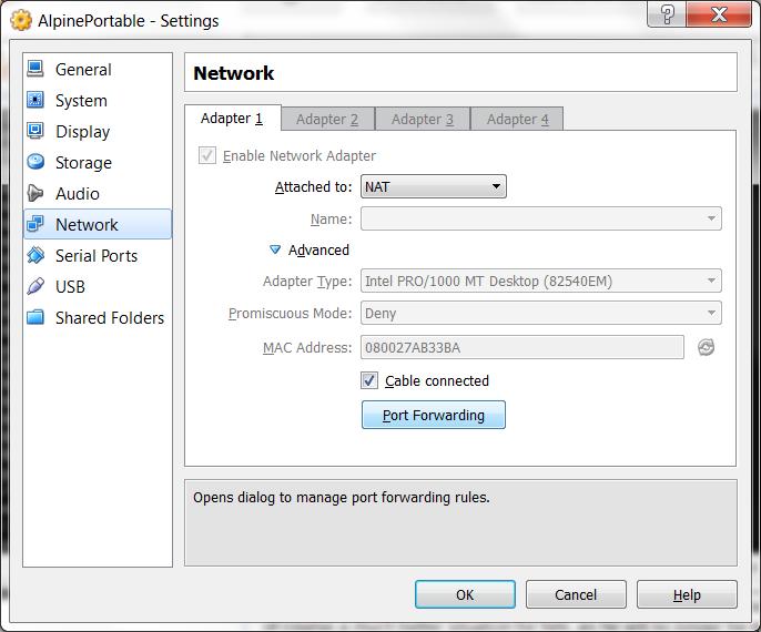 M0les: Portable Virtualbox with Alpine Linux