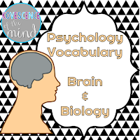 Brain and Biology Vocabulary